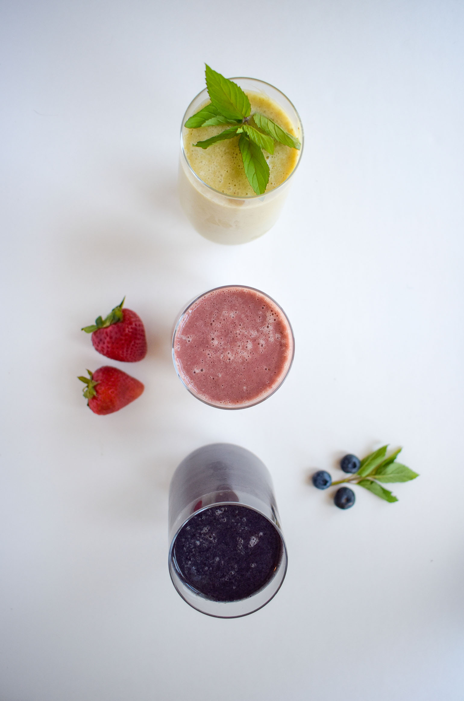 Fruit Smoothies with Herbs