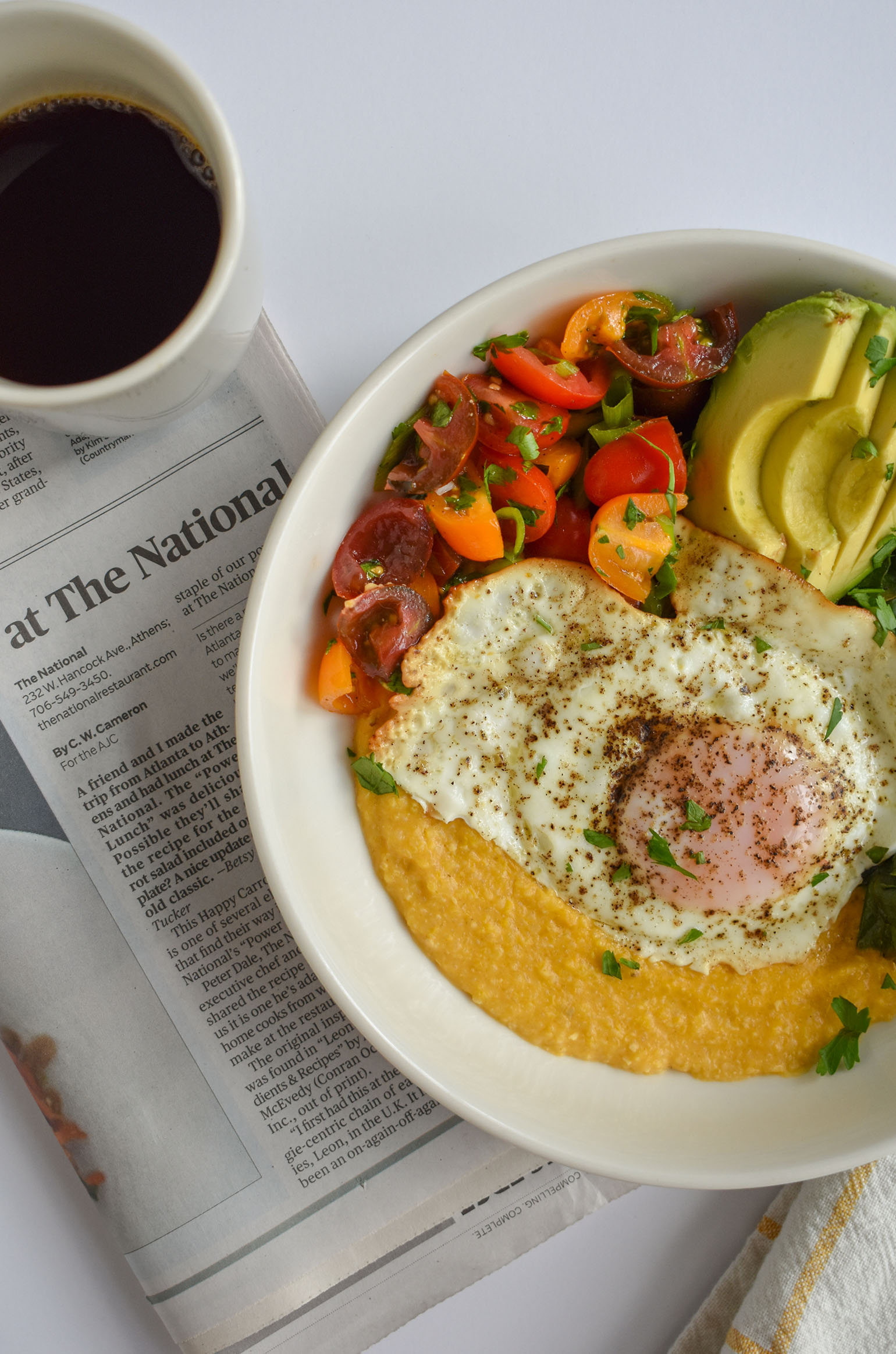 Dreamy savory breakfast bowls filled with summer veggies