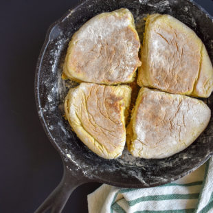 Irish Soda Farls in Cast Iron Pan