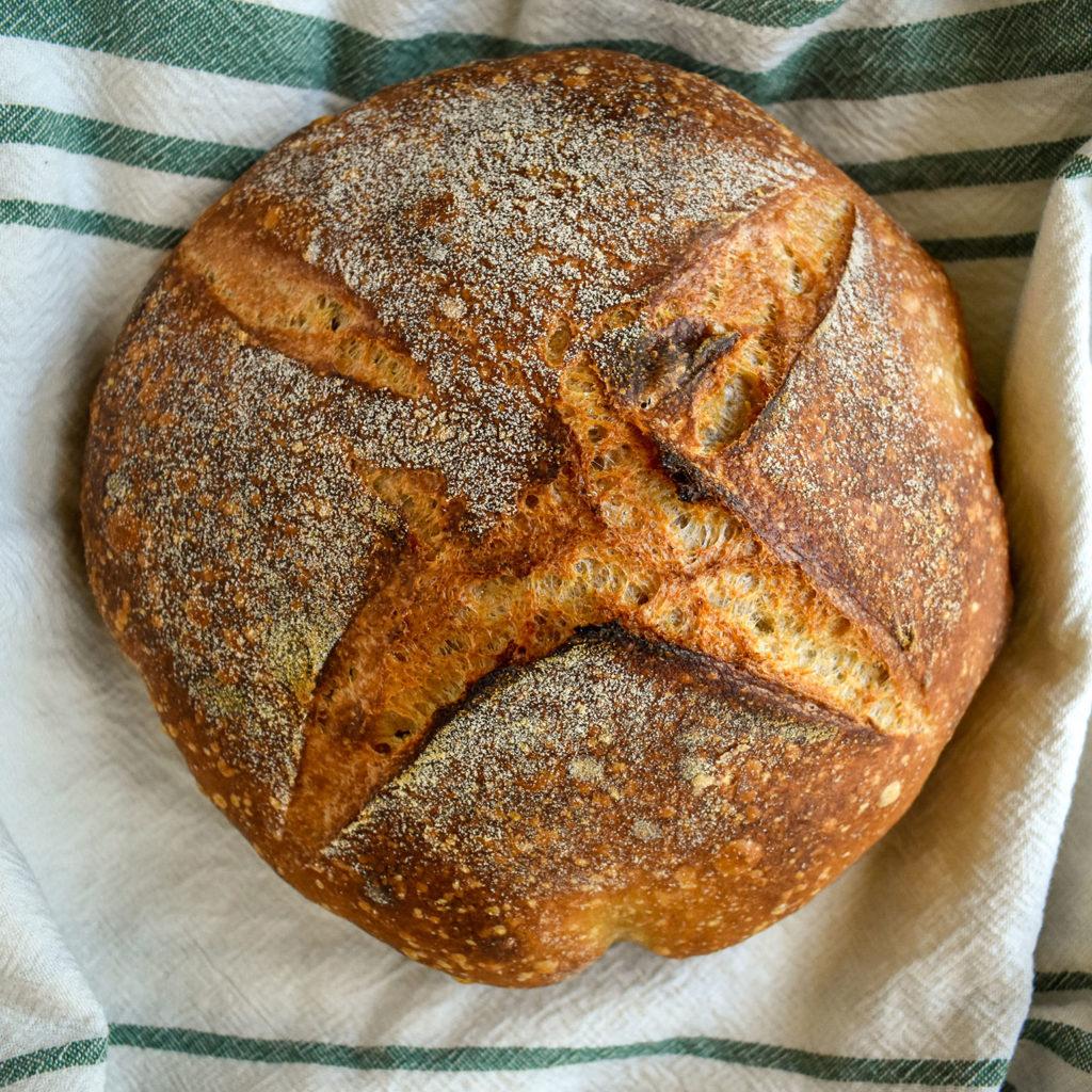 Baking Bread- Sourdough on Towel