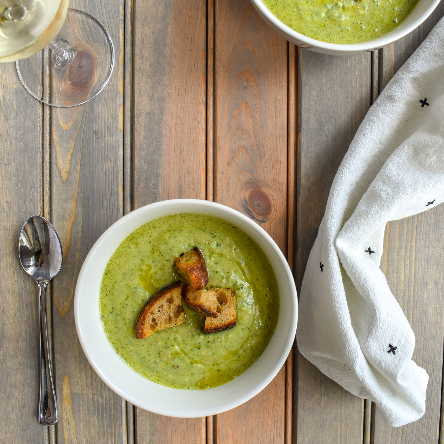 Green Gazpacho with Brooklyn Grange Hot Sauce