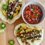 Chipotle Mushroom Fajitas and Homemade Tomato Salsa