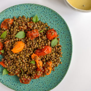 Warm Lentil Salad- Travel Food Recipe