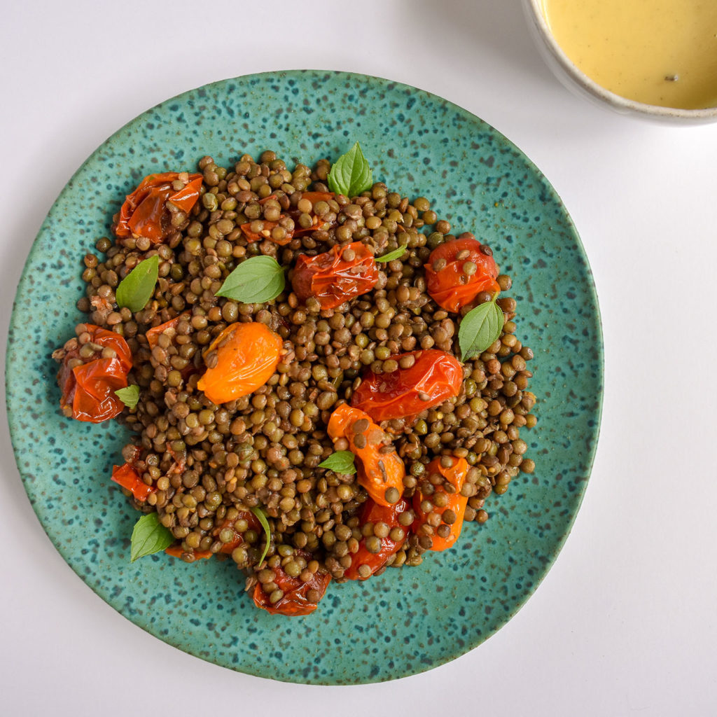 Warm Lentil Salad- Travel Food