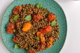 Warm Lentil Salad- Travel Food