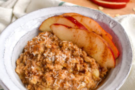 Cardamom Pear Fall Oatmeal Recipe in a Bowl