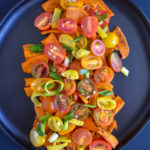 Savory Roasted Sweet Potatoes and Cherry Tomatoes