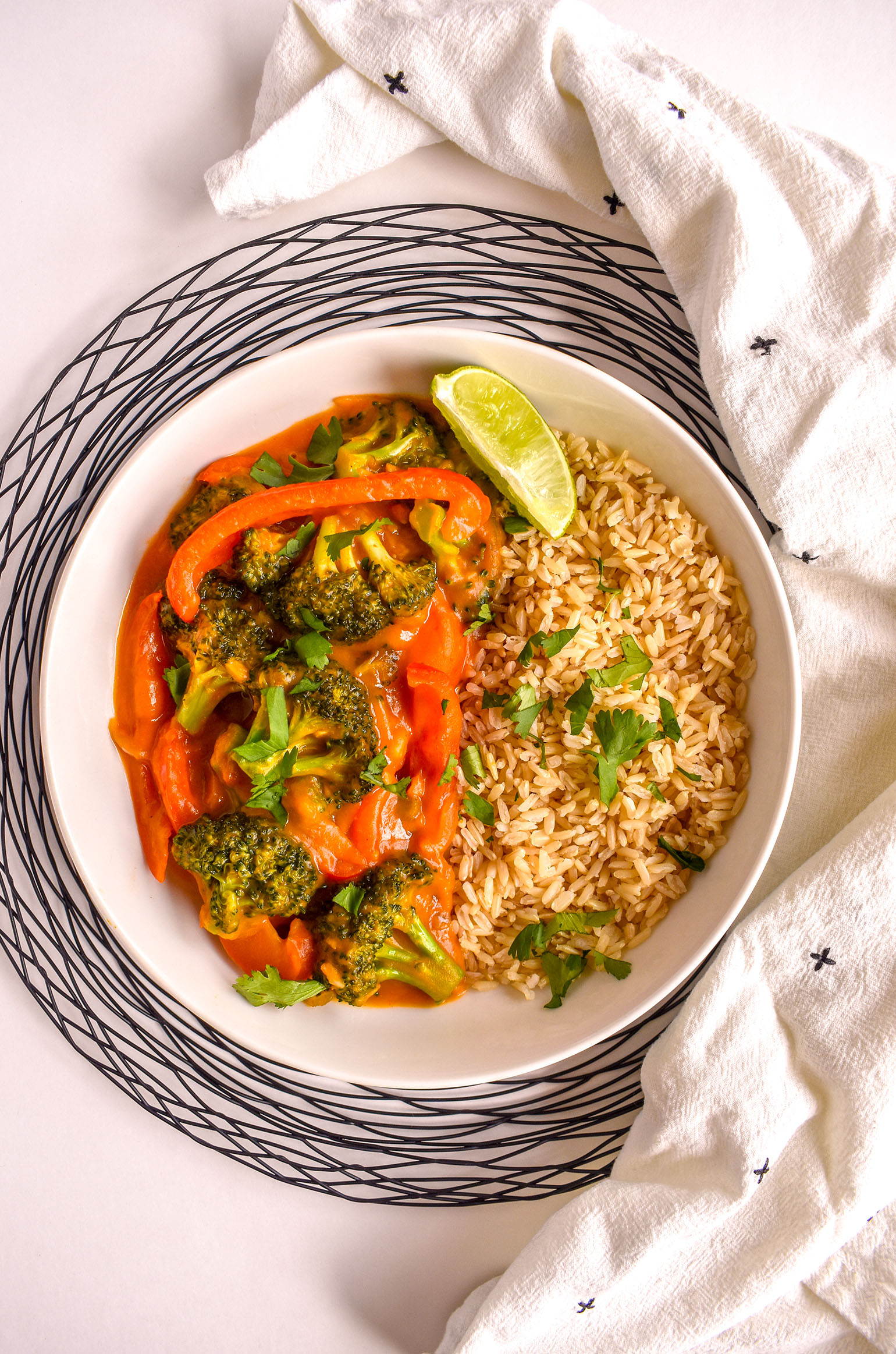 Butternut Thai Red Curry with Vegetables
