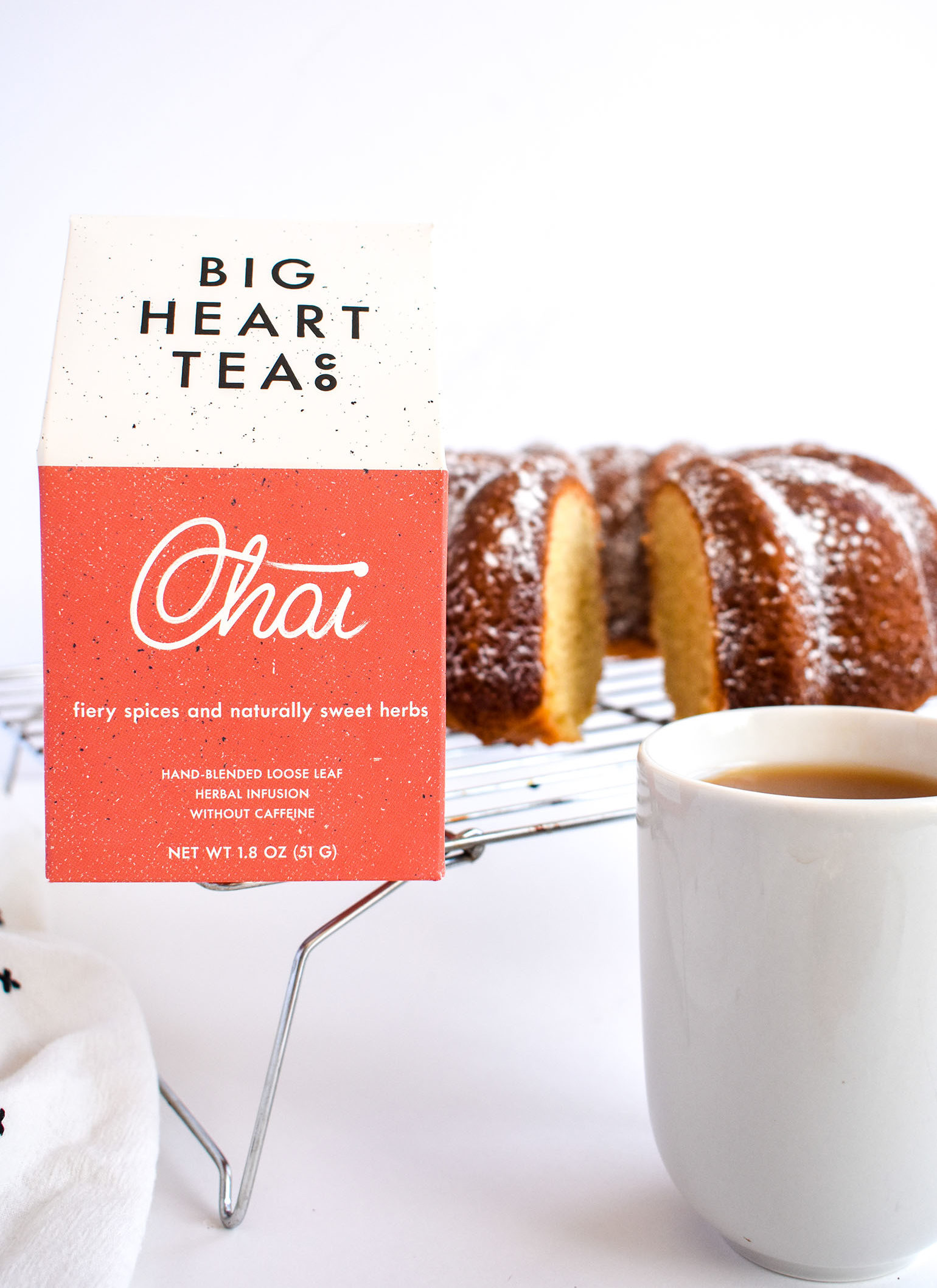 Spiced Chai Bundt Cake with Big Heart Tea Co.