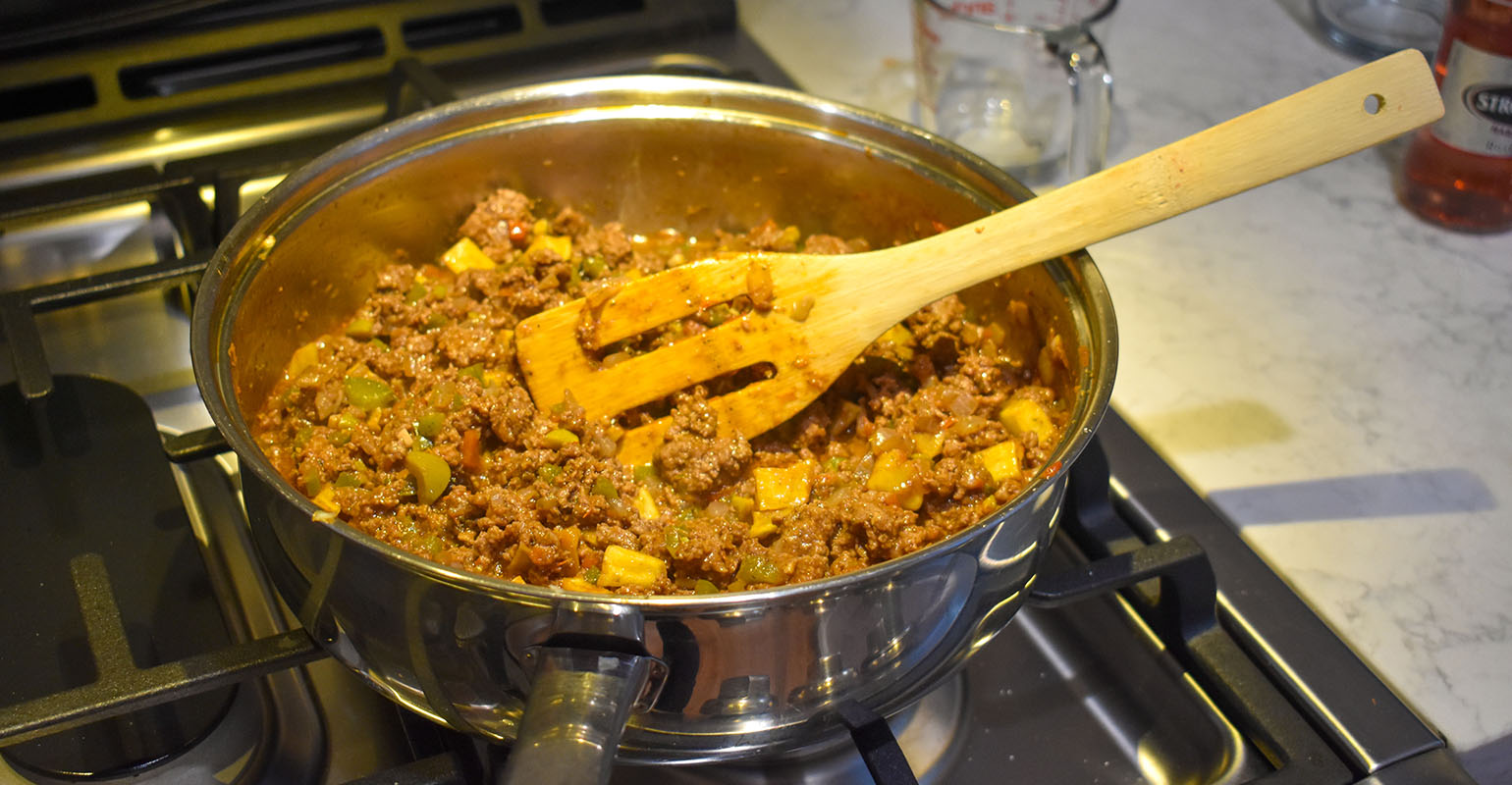 Cooking together- easy Cuban Picadillo