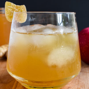 Honey Ginger Cider Bourbon Cocktail